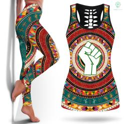 Lives Matter Raised Fist - Black Power Legging And Tanktop %tag familyloves.com
