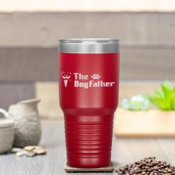 The Dogfather Siberian Husky Dog Dad Father's Day Gifts Tumbler %tag familyloves.com