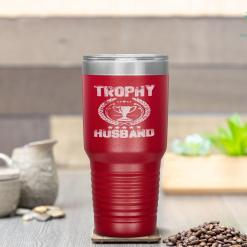 Trophy Husband Funny Father's Day Gift Tumbler %tag familyloves.com