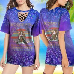 Yoga T Shirt Funny Scorpio Girl The Soul Of A Witch Vintage Yoga Birthday Gift T-Shirt Yoga Pug Shirt %tag familyloves.com