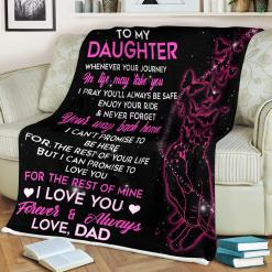 To My Daughter-Love Dad Sherpa Fleece Blanket %tag familyloves.com