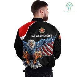 USMC CLOTHING 3D PRINTED - NEW DESIGN EAGLE US FLAG WING %tag familyloves.com
