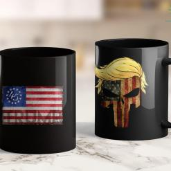 Anti Trump Merch Trump Betsy Ross Flag - Donald Trump 2020 Men Women 11oz Coffee Mug %tag familyloves.com
