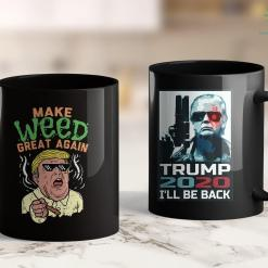 Anti Trump Shirts Funny Trump Marijuana Make Weed Great Again Cannabis 11oz Coffee Mug %tag familyloves.com