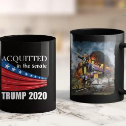 Anti Trump Tee Shirts Acquitted In The Senate Trump 2020 Pro Gift For Election 11oz Coffee Mug %tag familyloves.com