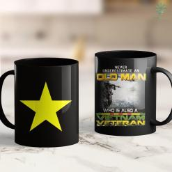 Army Veterans Hat Vietnam - Vietnam Flag Yellow Star 11Oz 15Oz Black Coffee Mug %tag familyloves.com
