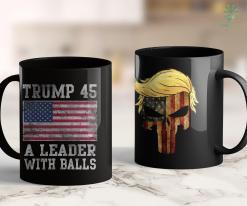 Assassinate Donald Trump Trump 45 A Leader With Balls Mens Gift 11oz Coffee Mug %tag familyloves.com
