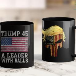 Assassinate Donald Trump Trump 45 A Leader With Balls Mens Gift 11oz Coffee Mug %tag familyloves.com