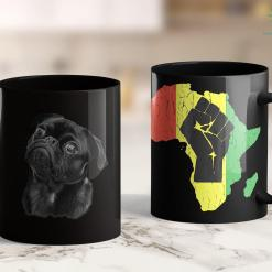 Black Lives Matter Los Angeles Pug Shirt For Dog Mom Dad Gift Idea Funny Cute Black Pug 11Oz 15Oz Black Mug %tag familyloves.com