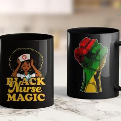 Black Lives Matter Statistics Black Nurse Magic! Black Pride Gift 11Oz 15Oz Black Mug %tag familyloves.com