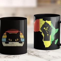 Blue Lives Matter Hoodie Vintage Black Cat Lover, Retro Style Cats Gift 11Oz 15Oz Black Mug %tag familyloves.com