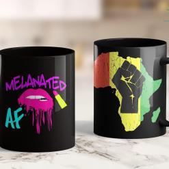 Brown Lives Matter Melanated Drip Dripping Melanin Love My Melanin Black Owned 11Oz 15Oz Black Mug %tag familyloves.com