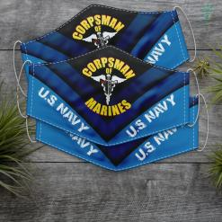 Case Us Navy Knife U.S. Navy Corpsman 8404 Fmf Veteran Front Amp Back Gift Face Mask Gift %tag familyloves.com