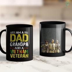 Charities For Veterans Mens Im Dad Grandpa And Vietnam Veteran Us Army Fathers Day 11Oz 15Oz Black Coffee Mug %tag familyloves.com