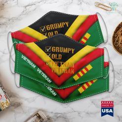Charter Vietnam Grumpy Old Vietnam Veteran Face Mask Gift %tag familyloves.com