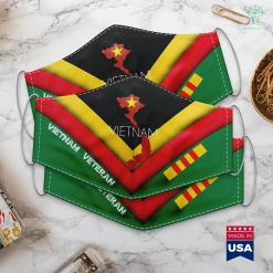 Clothing Donations For Veterans Outline Vietnam Flag Face Mask Gift %tag familyloves.com
