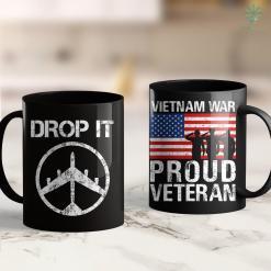 Clothing Donation Pick Up B-52 Bomber Drop It Vietnam War Protest Peace Symbol 11Oz 15Oz Black Coffee Mug %tag familyloves.com