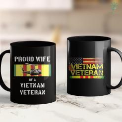 Combat Veteran Hat Proud Wife Of A Vietnam Veteran Uh-1 Huey 11Oz 15Oz Black Coffee Mug %tag familyloves.com