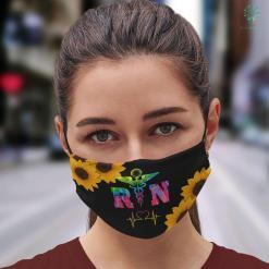 Cute Birthday Presents Rn Registered Nurse Health Professional Gif Tie Dye Face Mask Gift %tag familyloves.com