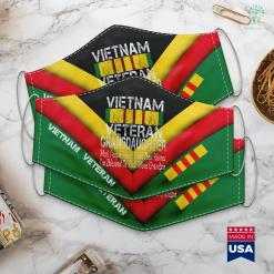 De Che Maya 2 Us Military Family Vietnam Veteran Granddaughter Gift Face Mask Gift %tag familyloves.com