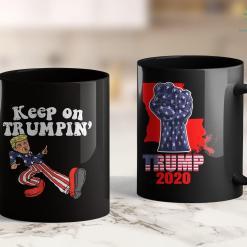 Donald Trump Coffee Keep On Trumpin Funny Usa Flag Support Reelect Trump 2020 11oz Coffee Mug %tag familyloves.com