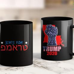 Donald Trump Cup Jews For Trump Hebrew Pro Trump 2020 Jewish Gift 11oz Coffee Mug %tag familyloves.com
