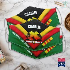 Donate Tv To Veterans Charlie Dont Surf Military Vietnam Veteran Surfer Face Mask Gift %tag familyloves.com