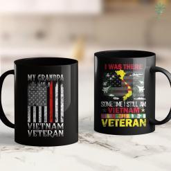 Donation Pick Up Distressed American Flag My Grandpa Is A Vietnam Veteran Tee 11Oz 15Oz Black Coffee Mug %tag familyloves.com