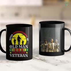Donations To Veterans Never Underestimate An Old Man Who Is Also A Vietnam Veteran 11Oz 15Oz Black Coffee Mug %tag familyloves.com