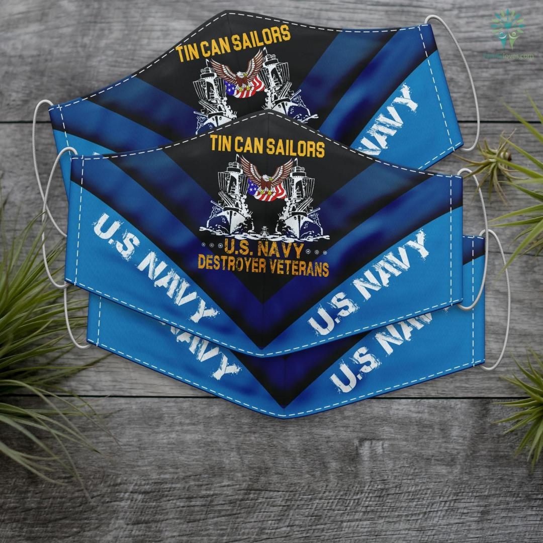 Extreme Ownership How Us Navy Seals Lead And Win Tin Can Sailors U.S Navy Destroyer Veterans Face Mask Gift %tag familyloves.com