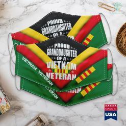 List Of Vietnam Veterans Proud Granddaughter Of Vietnam Veteran Military Family Gift Face Mask Gift %tag familyloves.com