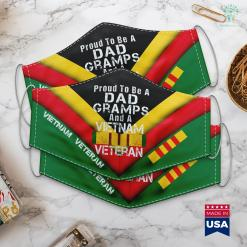 Names On The Wall Mens Proud Dad Gramps Vietnam War Veteran Vintage Vet Tee Face Mask Gift %tag familyloves.com