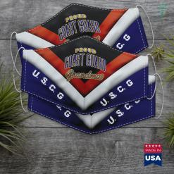 National Guard Bureau Coast Guard Grandma Face Mask Gift %tag familyloves.com