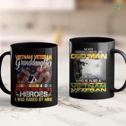 Navy Vietnam Veteran Hat Vietnam Veteran Granddaughter Proud Vietnam Veterans 11Oz 15Oz Black Coffee Mug %tag familyloves.com