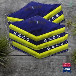 Nj Coast Guard Us Coast Guard Cwo4 Retired Face Mask Gift %tag familyloves.com