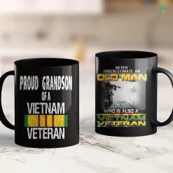 North Vietnam Map Us Military Family Proud Grandson Of A Vietnam Veteran 11Oz 15Oz Black Coffee Mug %tag familyloves.com
