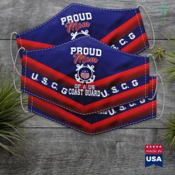 Pa Coast Guard Proud Us Coast Guard Mom Face Mask Gift %tag familyloves.com