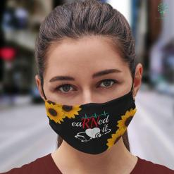 Student Nurse Kit Earned It Rn Nurse Nursing Graduation Gift Face Mask Gift %tag familyloves.com