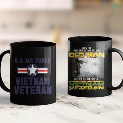 The Vietnam War Memorial Us Air Force Vietnam Veteran Cool Gift 11Oz 15Oz Black Coffee Mug %tag familyloves.com