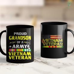 The War Of The Wall Proud Grandson Of A Army Vietnam Veteran 11Oz 15Oz Black Coffee Mug %tag familyloves.com