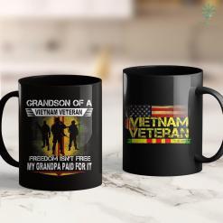 Travel Vietnam Wall Proud Grandson Of A Vietnam Veteran Grandson Gift 11Oz 15Oz Black Coffee Mug %tag familyloves.com
