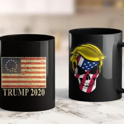Trump 2020 Ad Youtube Qanon Conspiracy Trump 2020 Q 1776 Betsy Ross American Flag 11oz Coffee Mug %tag familyloves.com