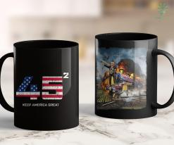 Trump 2020 Bracelet Quot45 Squared Re-Elect Trump 2020 Rallyquot Keep America Great 11oz Coffee Mug %tag familyloves.com