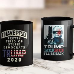 Trump 2020 Dollar Bill I Have Ptsd Stupid Democrats Pro Donald Trump 2020 Gop Gift 11oz Coffee Mug %tag familyloves.com