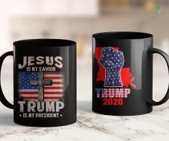 Trump 2020 Election Jesus Is My Savior Trump Is My President Squared 2020 Gifts 11oz Coffee Mug %tag familyloves.com