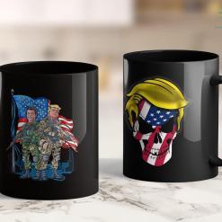 Trump 2020 Electoral Map Presidential Soldiers Ronald Reagan Amp Donald Trump Usa Flag 11oz Coffee Mug %tag familyloves.com
