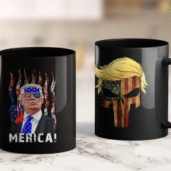 Trump 2020 Gold Coin Trump Merica T Murica 4Th Of July American Flag Gifts 11oz Coffee Mug %tag familyloves.com