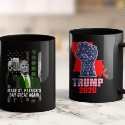 Trump 2020 License Plate Make St Patricks Day Great Again Trump 11oz Coffee Mug %tag familyloves.com
