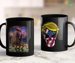 Trump 2020 Merch - Republican President Donald Trump Riding War Lion 11oz Coffee Mug %tag familyloves.com