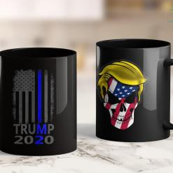 Trump 2020 Onesie Thin Blue Line Trump 2020 American Flag Vintage 11oz Coffee Mug %tag familyloves.com